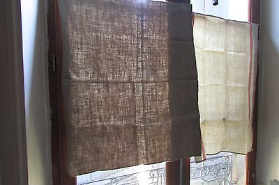 HUGE PR ANTIQUE FRENCH CHANVRE/METIS HANDLOOMED SLUBBY LINEN TORCHONS 1900's