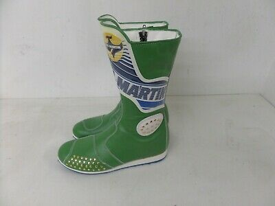 Stylmartin Motorcycle Motorbike Racing Boots - Green/Blue 184 - Various Sizes
