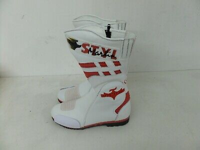 Stylmartin Motorcycle Motorbike Racing Boots - White/red 188 - Various Sizes