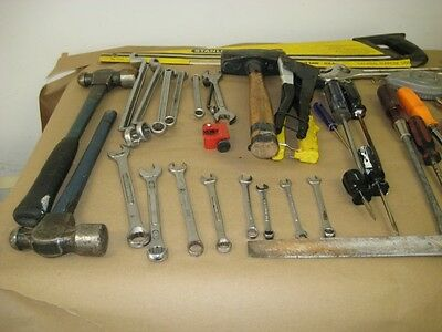 Four pound sledge Hammer plus two 24 oz ball pean hammers - used