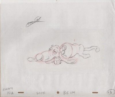 RUGRATS Original Production Cel Drawing Nicktoons COA Animation Pickles Spike