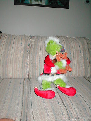 "The Grinch and Max Beverly Hills Teddy Bear Co Plush 27"" Sitting"
