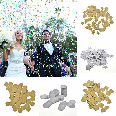 200Pcs/Pack Paper Table Throwing Confetti Party Supplies Wedding Decor Gold