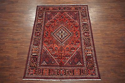 Persian 7X10 Antique Josheghan Area Rug Hand-Knotted Oriental Wool (7 x 10.3)