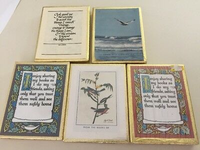 Vintage Lot Of 5 Antioch Bookplates 3 Sealed Audubon