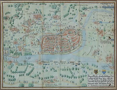 Rare Map of The 1578 Siege of Deventer - Netherlands, Holland - 1836