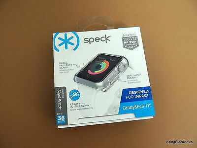 Speck Candyshell Fit Case Cover for Apple Watch 38mm - Clear