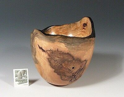 Figured Spalted MAPLE (12855) G+ Hand Turned Wood Bowl SMITHSONIAN Walsh 4-4