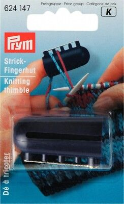 Prym Plastic Knitting Thimble with 4 Yarn Guides - each (624147)