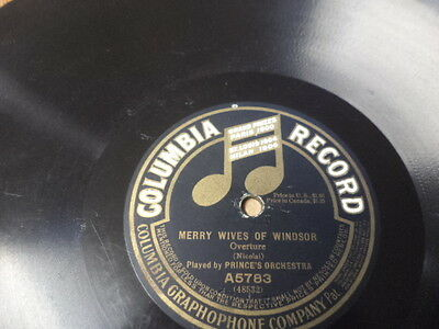 """1912 COLUMBIA 12"""" 78/Prince's Orchestra"""
