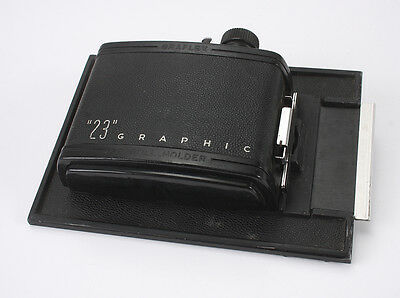Graflex Rollfilm Back 23 For 8 6X9 Images On 120 Film On 4X5 Graphic/189938