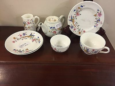 "VINTAGE ROYAL DOULTON ""Bird of Paradise""  8 Pc Personal Breakfast Set"