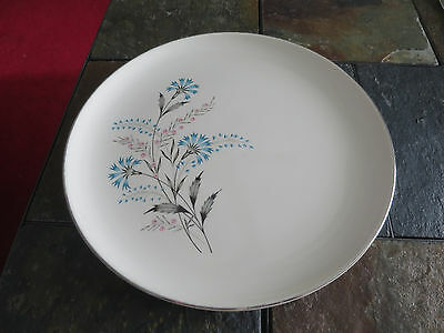 Taylor, Smith & Taylor Blue pink Flowers TST 393 Salad  bread Plate lot of 5