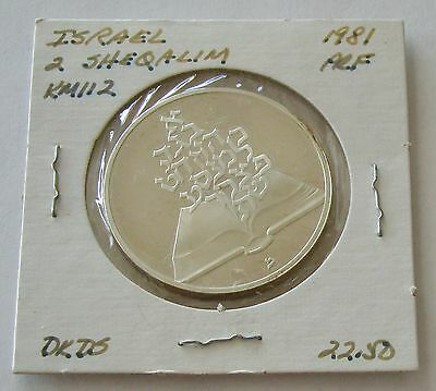1981 Israel 2 Sheqalim Anniversary Of Independence 85% Silver Proof Coin - #5150