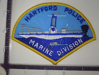 Hartford CT Marine Division Police Patch CONNECTICUT Boat Diver