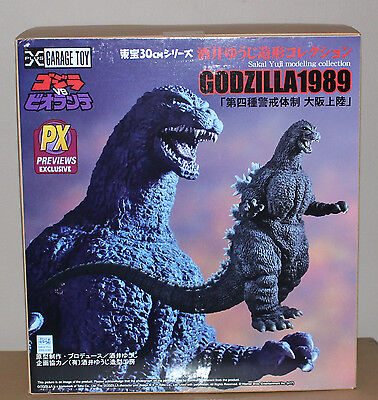 "X-Plus 1989 Godzilla Osaka Landing Sakai Previews Exlusive mint in box 12"" figur"