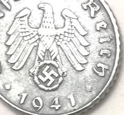 Rare Old Antique Vintage 5pf WW2 Germany War Eagle Coin