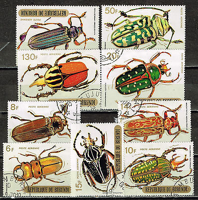 Burundi African Fauna Large Insects stamps 1967