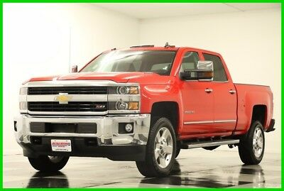 2016 Chevrolet Silverado 2500 4X4 LTZ  Diesel Leather GPS Red Hot Crew 4WD Like New 2500HD Duramax Heated Cooled Seats Navigation 15 17 2015 16 Cab 6.6L V8