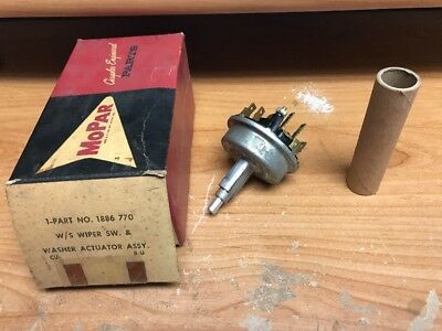 NOS Mopar 1960 Chrysler 300F New Yorker Variable Speed Windshield Wiper Switch