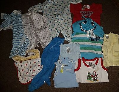 Bulk lot mixed baby boys clothing size 0000 Mixed New and preloved