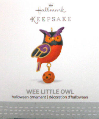 2017 Hallmark Miniature Halloween Ornament ~ Wee Little Owl