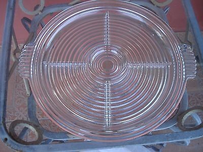 Depression Glass Manhattan Crystal Large Handled 5 Part Relish Tray/plate...wow!