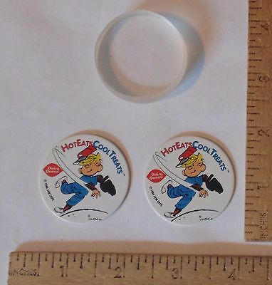 2 - DAIRY QUEEN / Dennis The Menace - 1994 JAM CAPS - Pogs - with Clear SLAMMER