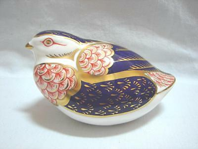 vintage Royal Crown Derby Paperweight Quail Xcellent Cond