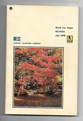 1978 North Las Vegas Nevada Telephone Directory/Book