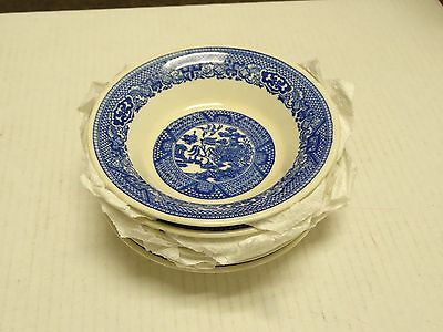 """Lot Of 6 Royal China  Blue Willow  Berry Bowls 5.75""""  Willow Ware"""