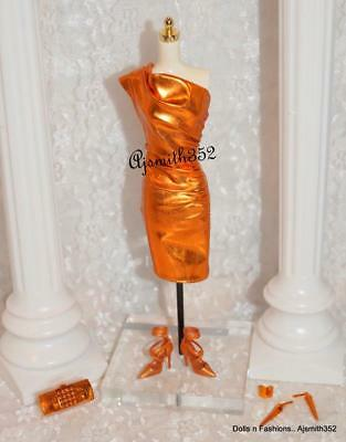Gorgeous 2014 City Shine Bronze Dress Model Muse Barbie Doll Fashion Outfit Set