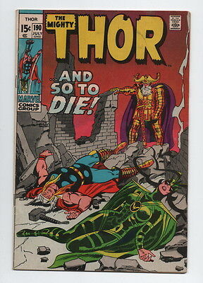 The Mighty Thor Comic Book #190 Marvel Comics 1971 Very Good