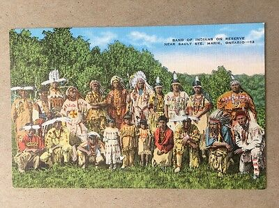 Ojibway Band Of Indians Near Sault Ste. Marie Ontario Postcard