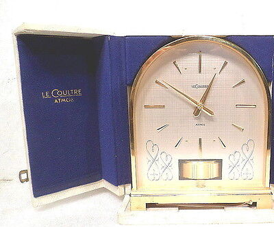 RARE Domed Swiss Le Coultre Atmos Clock--Circa 1960's-ORIGINAL PADDED CARRY CASE