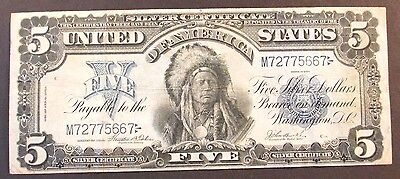 $5.00 Silver Certificate, Chief Note, Series of 1899