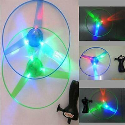 New Children Outdoor Toy Flash Light UFO Flying Saucer Frisbee Top Toys Y