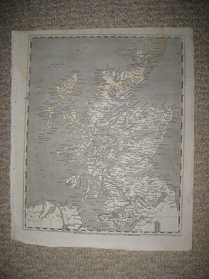 Antique 1804 Scotland Arrowsmith & Lewis Copperplate Map Islands Detailed Fine N