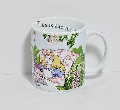 ALICE IN WONDERLAND CAFE Porcelain Coffee Mug Cup Paul Cardew England EUC