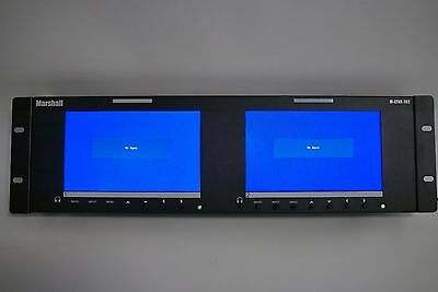 Marshall M-LYNX-702 Dual 7 inch Rackmountable 1024 x 600 LCD Monitors, Excellent