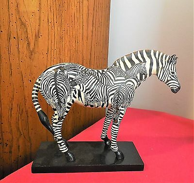 """Trail of Painted Ponies """" Incognito """" Resin Horse - Zebra 2E/0038 - 2005"""