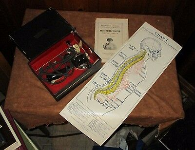 WHITE CROSS ELECTRIC VIBRATOR -1917 QUACK MEDICINE DEVICE w/ INSTRUCTION BOOKLET