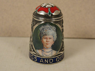 Peter Swingler Silver & Enamel THIMBLE: QUEEN MARY. Kings & Queens Series