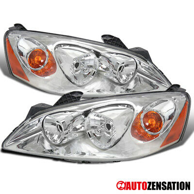 2005-2010 Pontiac G6 Clear Lens Headlights Head Lamps Left+Rights Pair+Amber