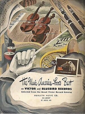 1943 Victor and Bluebird Records music catalog / Hunleth Music Co / St. Louis