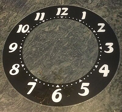glo dial vintage electric neon clock numbers number  glass replacement 22 inch