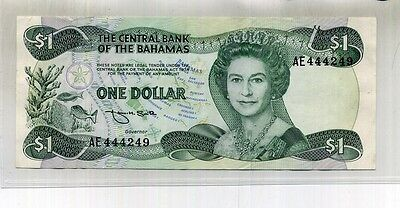 1974 $1 Bahamas Currency Note Au 6379C