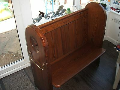 Small Victorian Pitch Pine Church Pew (1860