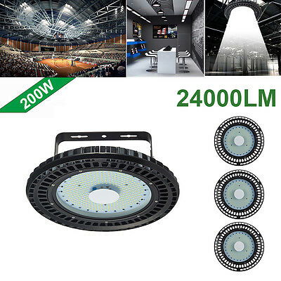 4X 200W UFO LED High Bay Light Industrial lamp Factory Warehouse Shed Lighting