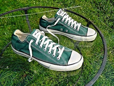 Converse All Star Low / Made in USA / US Men size: 10 / Green Canvas / Deadstock